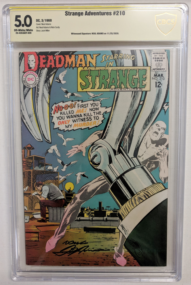 """Neal Adams Signed 1968 """"Strange Adventures"""" Issue #210 DC Comic Book (CBCS Encapsulated - 5.0) at PristineAuction.com"""