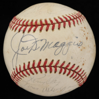 "1979 Yankees OAL Baseball Team-Signed by (17) with Joe Dimaggio, Jim ""Catfish"" Hunter, Yogi Berra, Thurman Munson (Beckett LOA) (See Description) at PristineAuction.com"