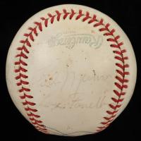 "1979 Yankees OAL Baseball Team-Signed by (17) with Joe Dimaggio, Jim ""Catfish"" Hunter, Yogi Berra, Thurman Munson (Beckett LOA) (See Description) at PristineAuction.com"