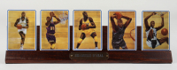 Shaquille O'Neal LE 1994 Set of (5) Ceramic Cards with Wooden Display Stand at PristineAuction.com