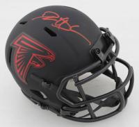 Deion Sanders Signed Falcons Eclipse Alternate Speed Mini Helmet (Beckett COA) at PristineAuction.com