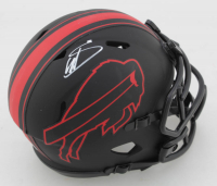 Stefon Diggs Signed Bills Eclipse Alternate Speed Mini Helmet (Beckett COA) at PristineAuction.com