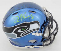 DK Metcalf Signed Seahawks Chrome Speed Mini Helmet (Beckett COA) at PristineAuction.com