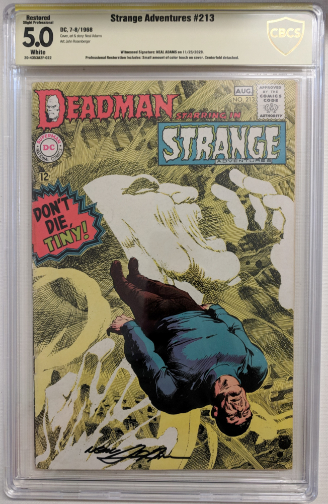 """Neal Adams Signed 1968 """"Strange Adventures"""" Issue #213 DC Comic Book (CBCS Encapsulated - 5.0) at PristineAuction.com"""