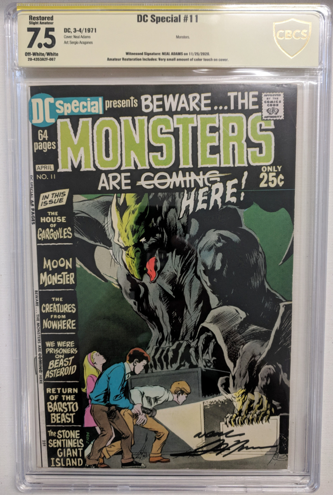 """Neal Adams Signed 1971 """"DC Special"""" Issue #11 DC Comic Book (CBCS Encapsulated - 7.5) at PristineAuction.com"""