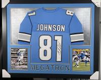 Calvin Johnson Signed 35x43 Custom Framed Jersey (JSA COA) at PristineAuction.com