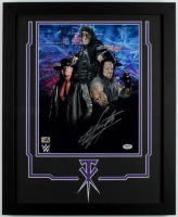 The Undertaker Signed WWE 18x22 Custom Framed Photo Display (PSA COA & Fiterman Sports Hologram) at PristineAuction.com