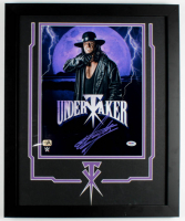 The Undertaker Signed WWE 18.25x22.25 Custom Framed Photo Display (PSA COA & Fiterman Sports Hologram) at PristineAuction.com