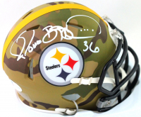 Jerome Bettis Signed Steelers Camo Alternate Speed Mini Helmet (Beckett COA) at PristineAuction.com