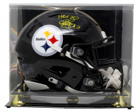 """Troy Polamalu Signed Steelers Full-Size Authentic On-Field SpeedFlex Helmet Inscribed """"HOF 20"""" with Display Case (Beckett COA) at PristineAuction.com"""