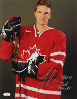 """Jonathan Huberdeau Signed Team Canada 11x14 Photo Inscribed """"2011 3rd Overall"""" (JSA COA) at PristineAuction.com"""