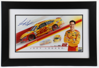 Joey Logano Signed NASCAR #22 17x25 Custom Framed Photo (PA COA) at PristineAuction.com