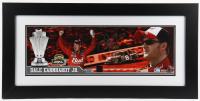 Dale Earnhardt Jr. Signed NASCAR #8 15x31 Custom Framed LE Photo with Race-Used Tire Piece (Dale Jr. Hologram & COA) at PristineAuction.com