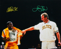 Magic Johnson & Larry Bird Signed 16x20 Photo (Beckett COA) at PristineAuction.com