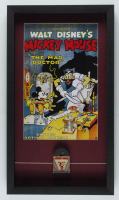 Vintage 1950's Walt Disney's Mickey Mouse 14.5x25.5x2 Custom Framed Shadowbox 1950'a 8mm Mickey Mouse Film Reel Display with Original Box at PristineAuction.com