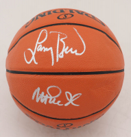 Larry Bird & Magic Johnson Signed NBA Game Ball Series Basketball (Beckett COA) (See Description) at PristineAuction.com