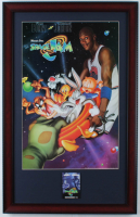 """""""Space Jam"""" 16x25 Custom Framed Print Display with Pre-Movie Release Theater Pin (See Description) at PristineAuction.com"""