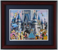 Vintage Disneyland 13x15 Custom Framed Souvenir Pin Set Display with (4) Pins at PristineAuction.com