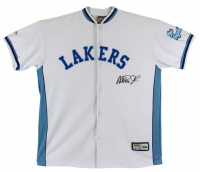Magic Johnson Signed Lakers Warm-Up Jacket (Beckett COA) at PristineAuction.com