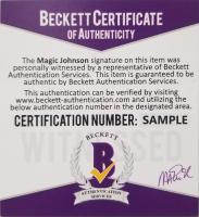 Magic Johnson Signed Lakers Warm-Up Jacket (Beckett COA) at PristineAuction.com