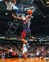 Steve Francis Signed Rockets 16x20 Photo (Beckett COA) at PristineAuction.com