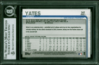 Kirby Yates Signed 2019 Topps #347 (BGS Encapsulated) at PristineAuction.com