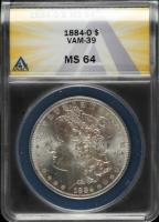 1884-O Morgan Silver Dollar, VAM-39 (ANACS MS64) at PristineAuction.com