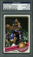 Mychal Thompson Signed 1979-80 Topps #63 RC (PSA Encapsulated) at PristineAuction.com