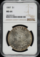 1887 Morgan Silver Dollar (NGC MS64) at PristineAuction.com