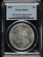 1887 Morgan Silver Dollar - McClaren Collection II (PCGS MS62) at PristineAuction.com
