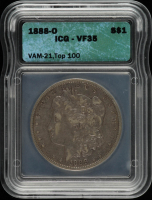1888-O Morgan Silver Dollar, VAM-21 Top 100 (ICG VF35) at PristineAuction.com