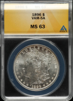 1896 Morgan Silver Dollar, VAM-5A (ANACS MS63) at PristineAuction.com