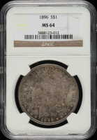 1896 Morgan Silver Dollar (NGC MS64) (Toned) at PristineAuction.com