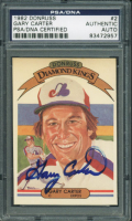 Gary Carter Signed 1982 Donruss #2 DK (PSA Encapsulated) at PristineAuction.com
