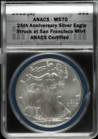 2011-(S) American Silver Eagle $1 One Dollar Coin - Struck at San Francisco (ANACS MS70) at PristineAuction.com