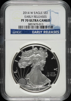 2014-W American Silver Eagle $1 One Dollar Coin - Early Releases (NGC PF70 Ultra Cameo) at PristineAuction.com