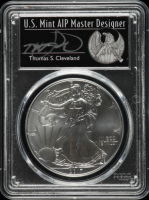 2017 American Silver Eagle $1 One Dollar Coin - Thomas S. Cleveland Signed Label (PCGS MS70) at PristineAuction.com