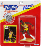 Magic Johnson Signed Lakers 1991 Starting Lineup Figurine with Card (Beckett COA) at PristineAuction.com