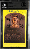 Joe DiMaggio Signed Hall Of Fame Gold Postcard (BGS Encapsulated) at PristineAuction.com