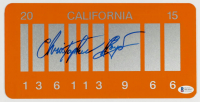 """Christopher Lloyd Signed """"Back to the Future Part II"""" California License Plate (Beckett COA) at PristineAuction.com"""