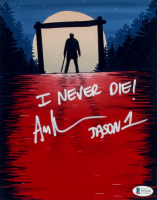 "Ari Lehman Signed ""Friday the 13th"" 8x10 Photo Inscribed ""Jason 1"" & ""I Never Die!"" (Beckett COA) at PristineAuction.com"