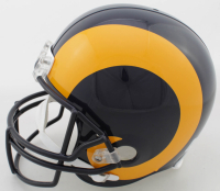"""Isaac Bruce Signed Rams Full-Size Helmet Inscribed """"HOF 20"""" (Beckett COA) at PristineAuction.com"""