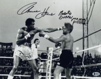 "Roberto Duran & Thomas Hearns Signed 11x14 Photo Inscribed ""Manos Piedra"" (Beckett COA) at PristineAuction.com"