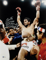 "Roberto Duran Signed 11x14 Photo Inscribed ""Manos de Piedra"" (Beckett COA) at PristineAuction.com"