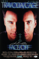"John Travolta Signed ""Face/Off"" 12x18 Movie Poster Print (Beckett COA) at PristineAuction.com"