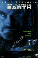 "John Travolta Signed ""Battlefield Earth"" 12x18 Movie Poster Print (Beckett COA) at PristineAuction.com"