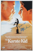 "Ralph Macchio Signed ""The Karate Kid"" 11x17 Movie Poster Print Inscribed ""Wax On"" (Beckett COA) at PristineAuction.com"