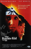 """Ralph Macchio Signed """"The Karate Kid"""" 11x17 Movie Poster Print Inscribed """"Wax On"""" (Beckett COA) at PristineAuction.com"""
