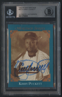 Kirby Puckett Signed 1992 Studio Heritage #BC-14 from Puckett Collection (Beckett Encapsulated) at PristineAuction.com