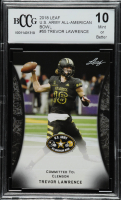 Trevor Lawrence 2018 Leaf Army All-American Bowl #55 (BCCG 10) at PristineAuction.com